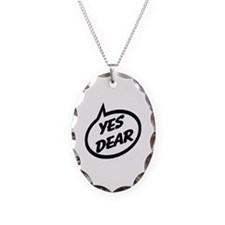 Yes Dear Necklace Oval Charm