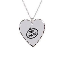 Yes Dear Necklace Heart Charm