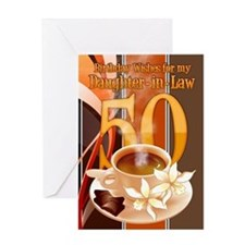 Daughter-In-Law 50th Birthday Greeting Card