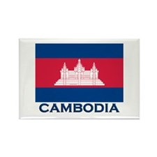 Cambodia Flag Merchandise Rectangle Magnet