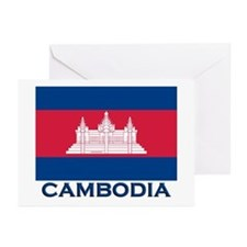 Cambodia Flag Merchandise Greeting Cards (Package
