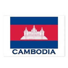 Cambodia Flag Merchandise Postcards (Package of 8)