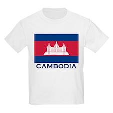 Cambodia Flag Merchandise Kids T-Shirt