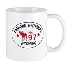 Bighorn Moose Badge Mug
