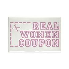 REAL WOMEN COUPON Rectangle Magnet