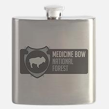 Medicine Bow Arrowhead Badge Flask