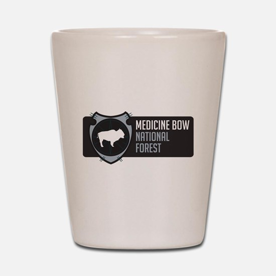 Medicine Bow Arrowhead Badge Shot Glass