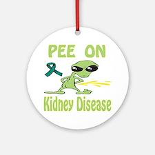 Pee on Kidney Disease Ornament (Round)