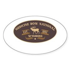 Medicine Bow Belt Buckle Badge Decal