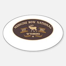 Medicine Bow Belt Buckle Badge Sticker (Oval)