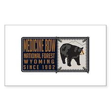 Medicine Bow Black Bear Badge Decal