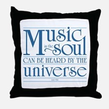Music in the Soul Throw Pillow