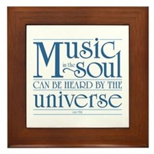 Music in the Soul Framed Tile