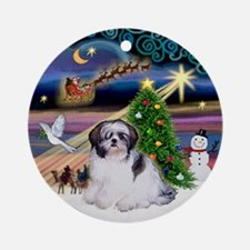 Xmas Magic & Shih Tzu (1) Ornament (Round)