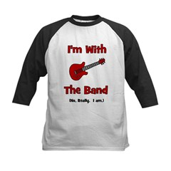I'm With The Band. Kids Baseball Jersey