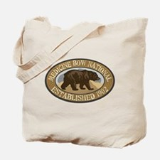 Medicine Bow Brown Bear Badge Tote Bag