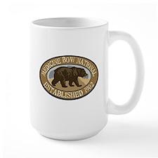 Medicine Bow Brown Bear Badge Mug