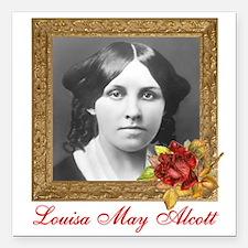 """Louisa May Alcott Square Car Magnet 3"""" x 3&qu"""
