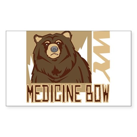 Medicine Bow Grumpy Grizzly Sticker (Rectangle)
