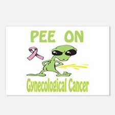 Pee on Gynecological Cancer Postcards (Package of