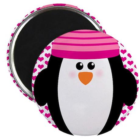 "Valentines Day Penguin 2.25"" Magnet (100 pack)"