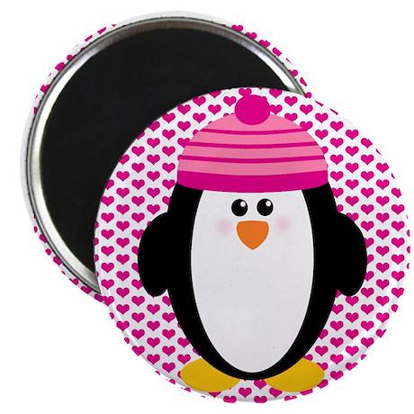 Valentines Day Penguin Magnet