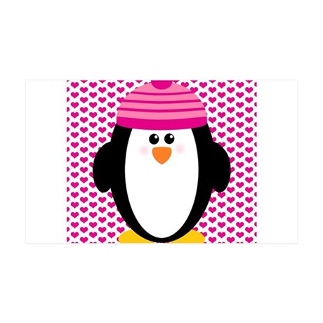 Valentines Day Penguin 35x21 Wall Decal