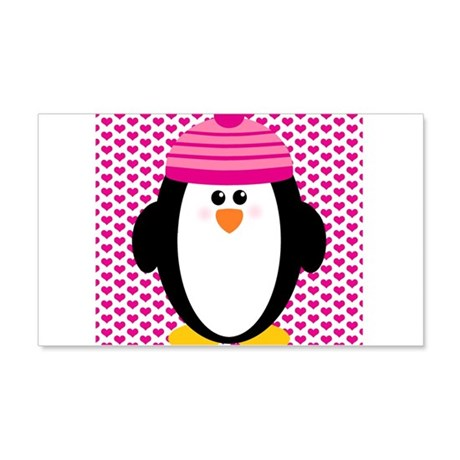 Valentines Day Penguin 20x12 Wall Decal