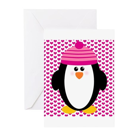 Valentines Day Penguin Greeting Cards (Pk of 20)