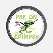Pee on Epilepsy Wall Clock