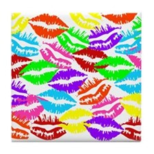 Lips Overload Tile Coaster
