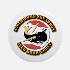 AAC - 330th Bomb Sqdn,93rd Bomb Group Ornament (Ro