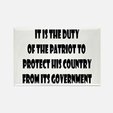 Duty of the Patriot Rectangle Magnet