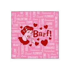 "Hearts And Romance Barf Square Sticker 3"" x 3"""