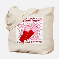 No Valentine Fresh Batteries Tote Bag