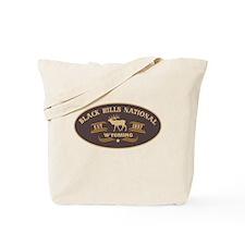 Black Hills Belt Buckle Badge Tote Bag