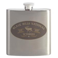 Black Hills Belt Buckle Badge Flask