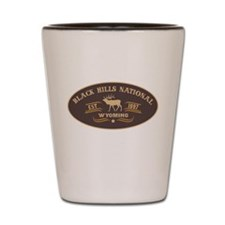 Black Hills Belt Buckle Badge Shot Glass