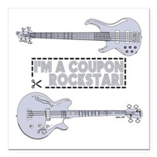 "COUPON ROCKSTAR! Square Car Magnet 3"" x 3"""
