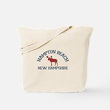 Hampton Beach NH - Moose Design. Tote Bag