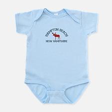Hampton Beach NH - Moose Design. Infant Bodysuit
