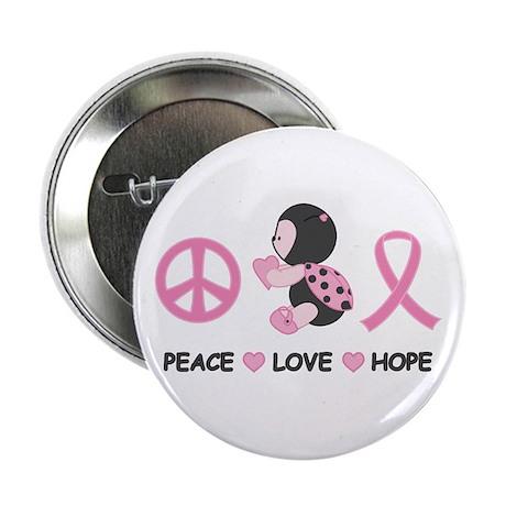 "Ladybug Peace Love Hope 2.25"" Button (100 pack)"