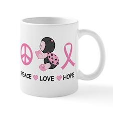 Ladybug Peace Love Hope Mug