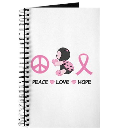Ladybug Peace Love Hope Journal