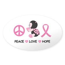 Ladybug Peace Love Hope Decal