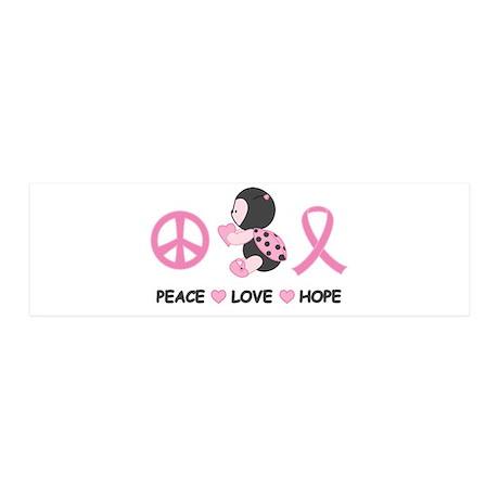 Ladybug Peace Love Hope 20x6 Wall Decal