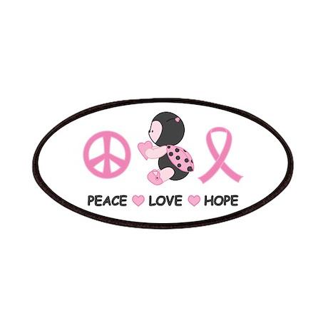 Ladybug Peace Love Hope Patches