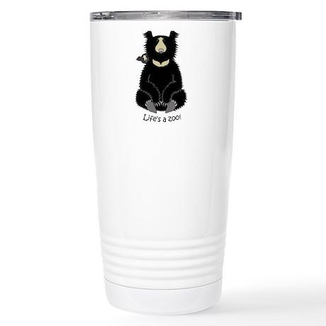 Sloth Bear with Cub Stainless Steel Travel Mug