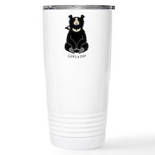 Sloth Bear with Cub Travel Mug