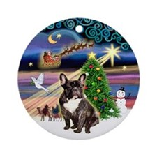 Xmas Magic & French Bulldog (br) Ornament (Rou